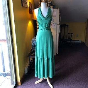Free People Anthropologie S Green Maxi Dress